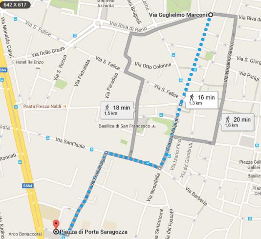 da Via Guglielmo Marconi  Bologna a Piazza di Porta Saragozza  40123 Bologna   Google Maps