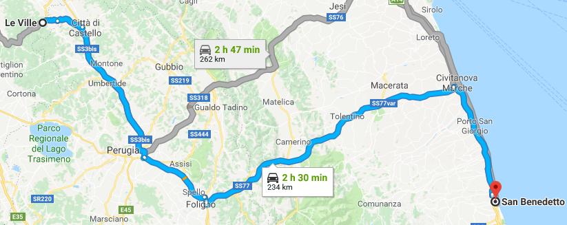 da Le Ville AR a 63074 San Benedetto del Tronto AP Google Maps